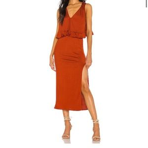 NWT Free People No Excuses Skirt Set Paprika Large